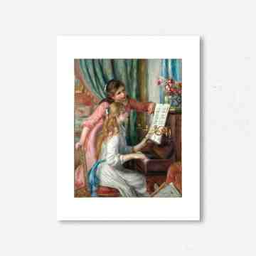 Lumikasa Renoir Two Young Girls At The Piano, 1892 Framed Art Print