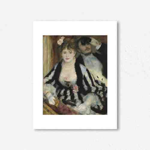 Lumikasa Renoir The Theatre Box, 1874 Framed Art Print