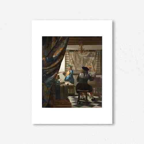 Lumikasa Vermeer The Art of Painting, (ca. 1665 - 1666) Framed Art Print