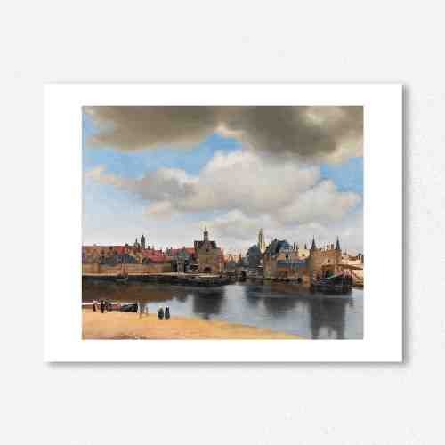 Lumikasa Vermeer View of Delft, (c.1660) Framed Art Print