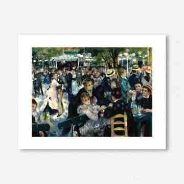 Lumikasa Renoir Dance at the Moulin de la Galette, 1876 Framed Art Print