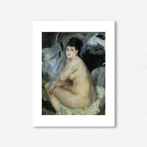 Lumikasa Renoir Nude Seated on a Sofa, 1876 Framed Art Print