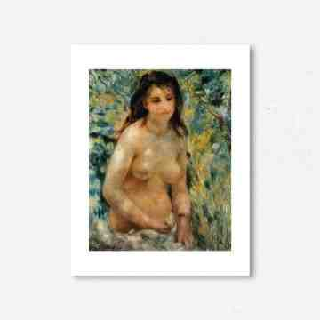 Lumikasa Renoir Nude in the Sun, 1875 Framed Art Print