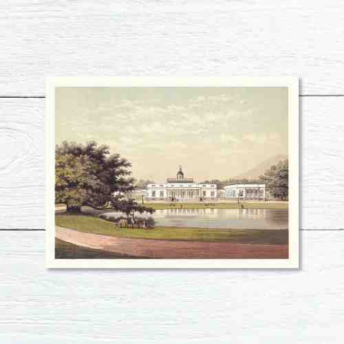Old East Indies Greeting Card General Palace (Istana Bogor) in Buitenzorg