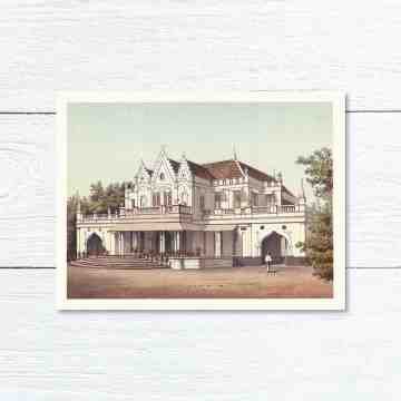 Old East Indies Greeting Card Raden Saleh's Residence in Batavia