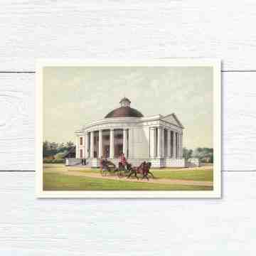 Old East Indies Greeting Card St. Emmanuel's Church in Batavia