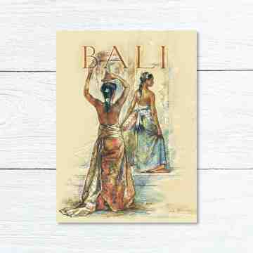 Old East Indies Greeting Card Bali Girl 2