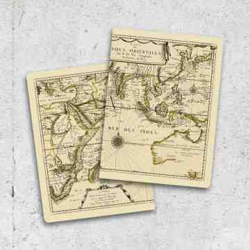 Old East Indies Thin Book Carte Des Indes Orientales - Year 1665