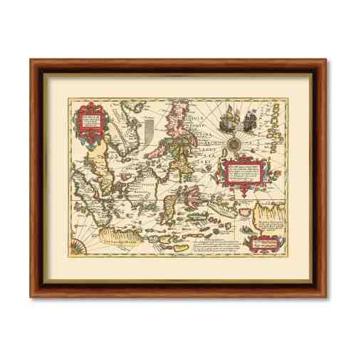 Old East Indies Frame South East Asia c. 1606