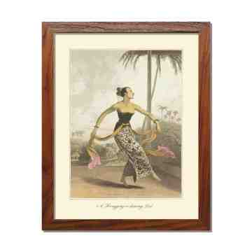 Old East Indies Frame A Ronggeng or dancing Girl