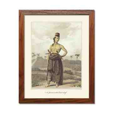 Old East Indies Frame A Javan in the Court dress