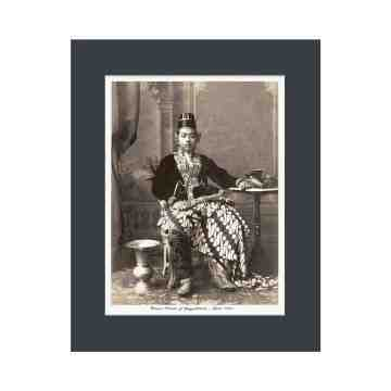 Old East Indies Crown Prince of Yogyakarta Cardboard Frame