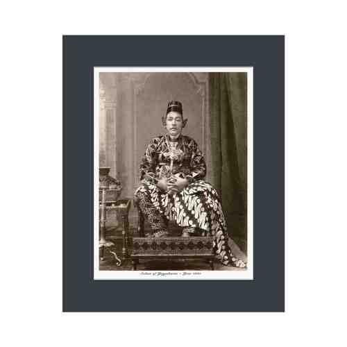 Old East Indies Sultan of Yogyakarta - Year 1885 Cardboard Frame
