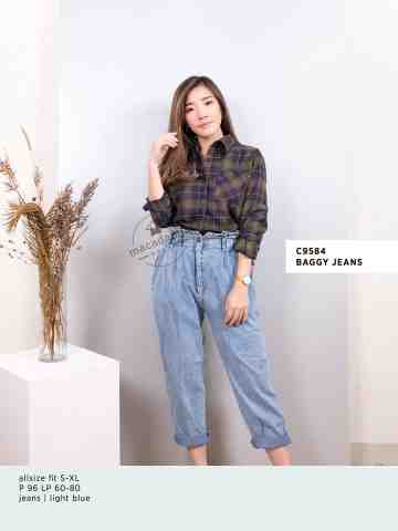 C9584 BAGGY JEANS image