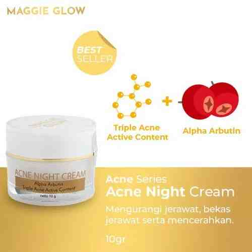 MAGGIE GLOW ACNE NIGHT CREAM - 10gr