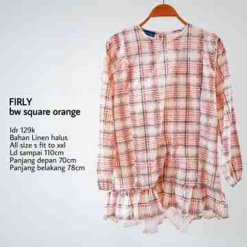 FIRLY BW SQUARE ORANGE