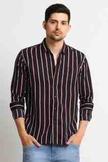Steve l/s Stripe Shirt