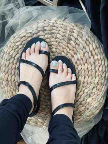 PRE ORDER PEONY BLACK SANDALS image