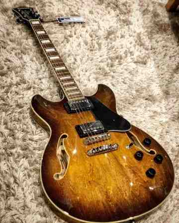 Ibanez AS73 Electric Guitar in Tobacco Brown