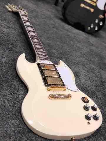 Tokai SG-71S AI in Antique Ivory with Gold Hardware and 3 pickups