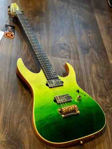 Ibanez LHM1 Luke Hoskin Signature in Transparent Green Gradation