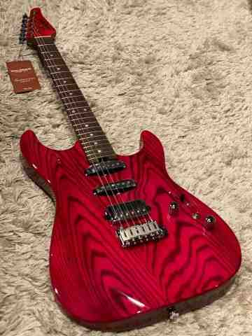 Soloking MS-1 Custom in Transparent Magenta with Roasted Maple Neck and Ash Body