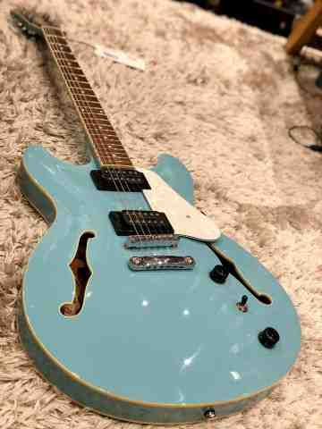 Ibanez AS63-MTB Semi-Hollow Guitar In Mint Blue