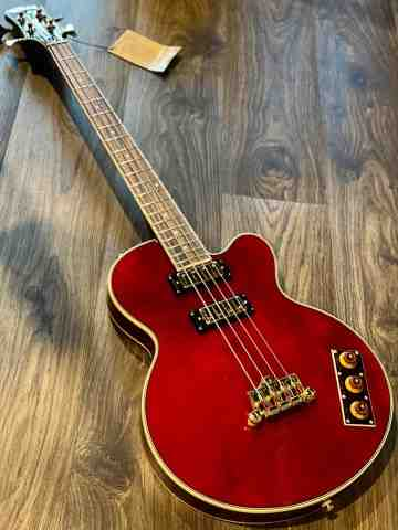 Epiphone Allen Woody Rumblekat Artist Series Bass in Wine Red