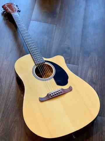 Fender FA-125CE Dreadnought with Walnut FB in Natural