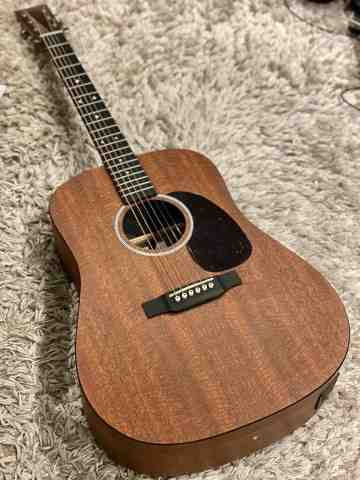 Martin D-X1E Dreadnought Acoustic-Electric in Natural Mahogany