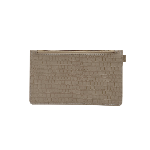 Midi Card Wallet Croco Oat
