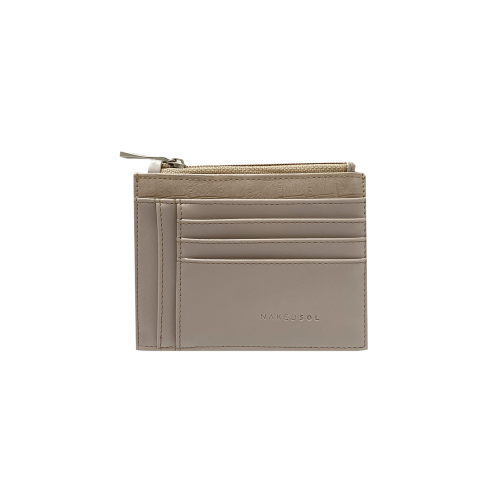 Mini Card Wallet Croco Oat