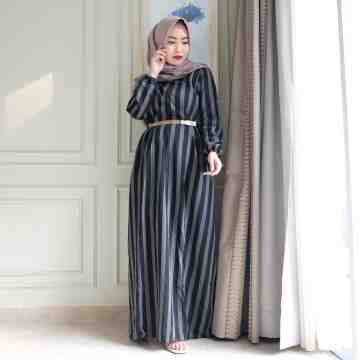 Anella Dress Stripe Black image