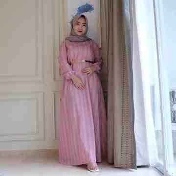 Anella Dress Stripe Pink image