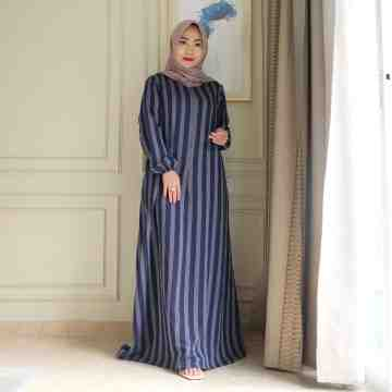 Anella Dress Stripe Navy image