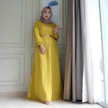 Anella Dress Stripe Mustard image
