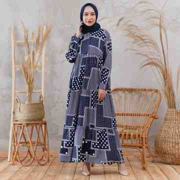 Ivy Dress poruka Navy