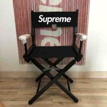 SS19 Supreme Director Chair Black