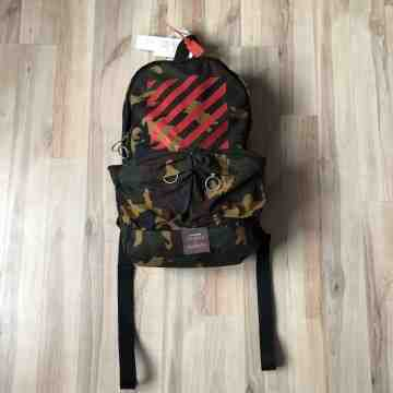 Off White Camo Backpack