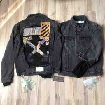 Off White Slim Denim Jacket