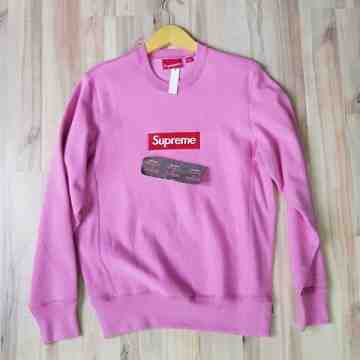 FW15 Supreme Crewneck Heather Pink