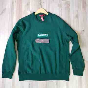 FW18 Supreme Crewneck Dark Green