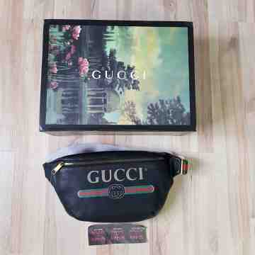 Gucci Belt Logo Black Large Waist Bag