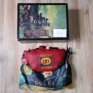 Gucci Coco Capitan Belt Waist Bag Red