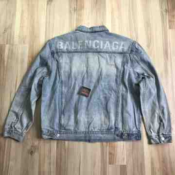 Balenciaga Blue Wash Denim Jacket
