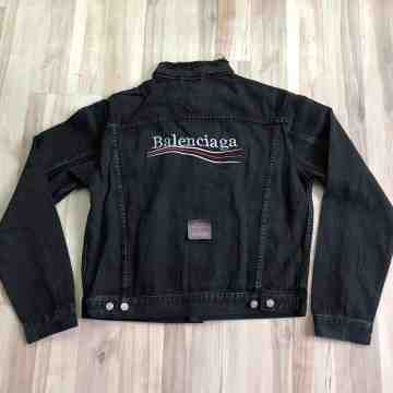 Balenciaga Black Denim Jacket
