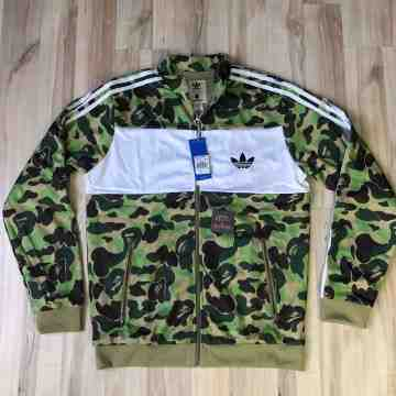 Bape x Adidas Firebird Jacket Green