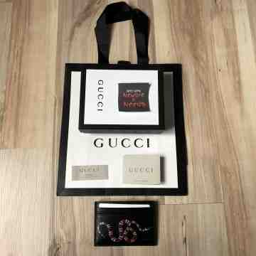 Gucci KingSnake Card Holder Black