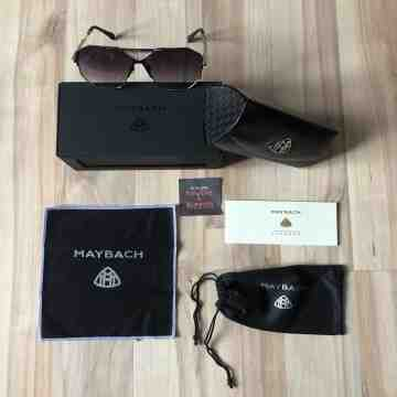 Maybach the Grand Silver Black Sunglasses