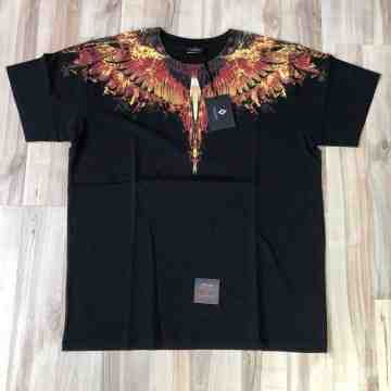 MARCELO BURLON Flame Wing Black Tee